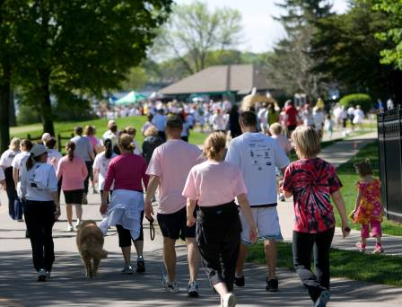 Walkers at Walk for Courage