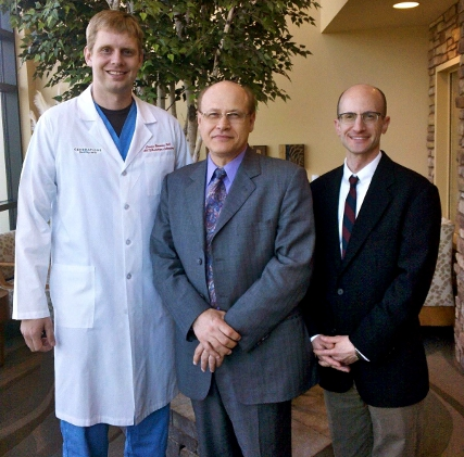 Dr. Bormann, Dr. Tommaso Falcone and Dr. Lebovic together at the new Generations clinic.