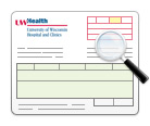 UW Hospital and Clinics sample billing statement