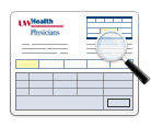 UW Medical Foundation (UW Health Physicians) sample billing statement