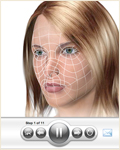 3-D animation player - view cosmetic surgery procedures in 3-D animation; UW Health Transformations plastic surgery, Madison, Wisconsin