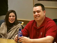 Couple at cystic fibrosis adult couples support group