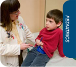 Pediatrics; doctor examining child