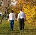 Couple walking; UW Health's reproductive endocrinology and infertility experts can help couples when they have difficulties conceiving