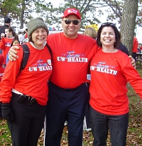 UW Health Heart Walk fundraiser Dan White and care team