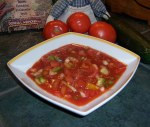 Chunky Gazpacho Garden Soup, Advances Recipe of the Month