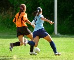 Girls playing soccer; Tips to Help Young Athletes Make Healthy Food Choices