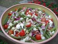 Green Bean and Tomato Greek Salad