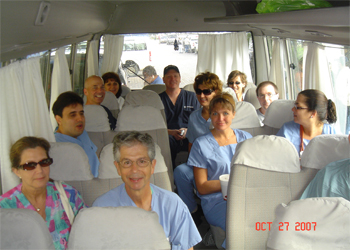 The group on the bus