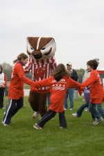 Girl Scouts and Bucky Badger, Heart Walk