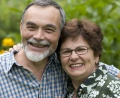Mature couple; At home dialysis helps patients return to a normal life