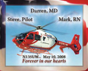 UW Med Flight tribute decal, Ryan Brothers Ambulance Company