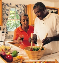 Older couple cooking; UW Health provides assistance with diabetes management for patients