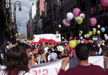 International Women's March at the Z*colo, Mexico City