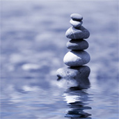 balanced stones; Health Psychology at UW Health