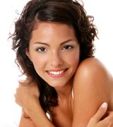 smiling woman, skin rejuvenation