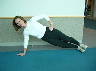 Advances Activity Avenue, Side Plank Option 3 Demonstration
