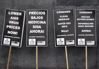Signs from the Universal Access March