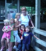 Sue Ann Thompson and her grandchildren