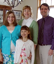 Jack, pictured with his family, underwent a heart transplant at UW Hospital in 2000