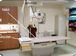 This is a picture of the X-ray room.