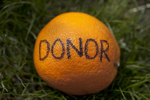 Orange you glad you're a donor?