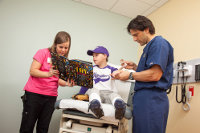 Child Life Specialists are available in the Emergency Department.