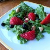 Leafy Green Salad with Fresh Berries and Macadamia Nuts
