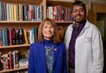 Dr. Dipesh Navsaria and Wisconsin's First Lady, Jessica Doyle, at the American Family Children's Hospital Library Dedication