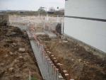 Footings at the construction site for Generations Fertility Care
