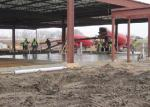 Pouring concrete slab at Generations Fertility Care's construction site