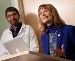 Wisconsin's First Lady Mrs. Jessica Doyle and UW Health Pediatirican Dr. Dipesh Nivsaria