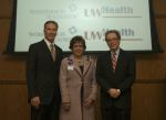 Bill Gorski, SwedishAmerican Health Systems, Donna Katen-Bahensky, UW Hospital and Clinics, Dr. Jeffrey Grossman, UW Medical Foundation