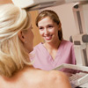 Woman at a breast examination
