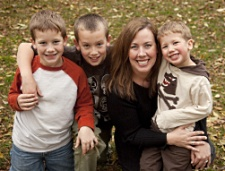 UW Hospital and Clinics' Sara Christenson and her sons