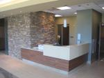 Reception desk of the new Generations Fertility Care Clinic