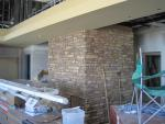 Generations Fertility Care Clinic Construction: Masonry Wall in the Waiting Room
