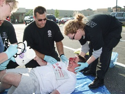 Scene from the 2009 EMS Olympics