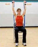 UW Health Go Red for Women exercises: seated shoulder press