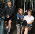 Fitness Center instructor and exerciser