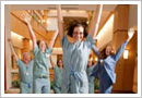 UW Health nurses jumping in celebration of Magnet recognition