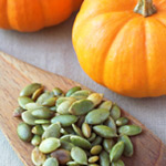 Pumpkin seeds add a fall feature to the Grab-and-Go Snack Mix.