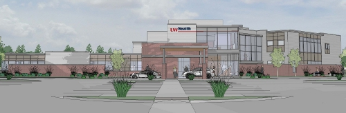 An artist's rendering of the new UW Health Yahara Clinic