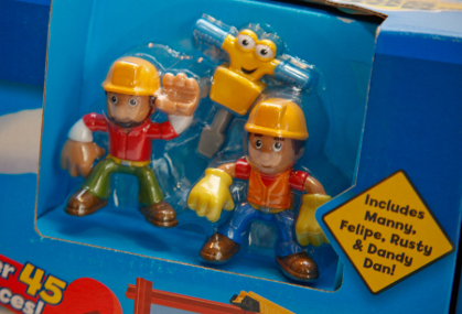 Handy Manny and his friends are fun for children to play with it, but in the hands of children under 3, these parts can be choking hazards.