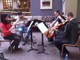 Sound Health musicians performing at UW Hospital and Clinics