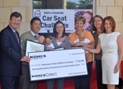 Jeff Poltawsky, Andy Choi, Sabrina Hall, Amy Carlson, Nan Peterson, Jill Armstrong during the Celebrity Car Seat Challenge