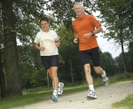 Couple running, maintaining ahealthy weight can help prevent colorectal cancer