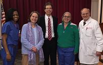The Ocular Oncology team at Wills Eye Hospital visit with UW Health's Dr. Lucarelli at his recent visit.