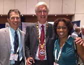 UW Department of Ophthalmology and Visual Sciences Chair Terri Young, Dr. Mark Lucarelli, and Dr. Geoffrey Rose.