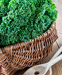 basket of kale; healthy recipe; Asian-Inspired Kale Salad; UW Health, Madison, Wisconsin